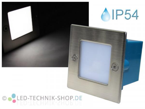 Edelstahl LED Einbauleuchte IP54 kaltweiss 230V