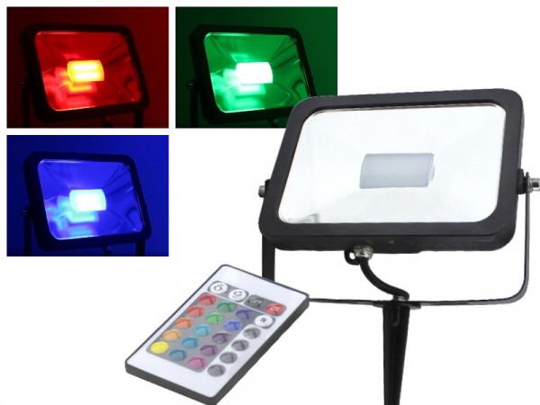 50W Slim RGB LED Fluter mit Erdspieß