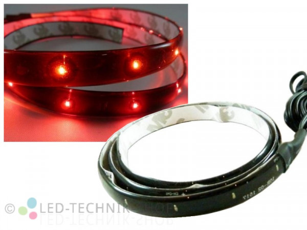 LED Black Strip IP65 30cm 15 LED rot