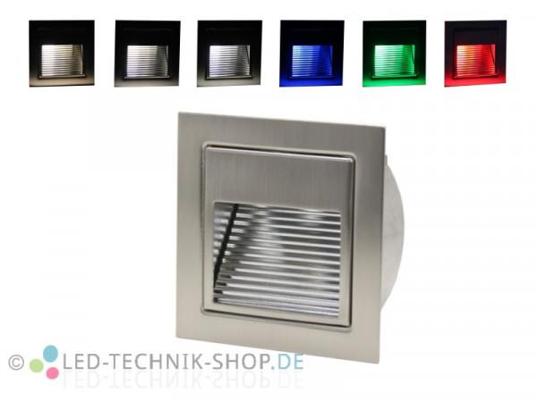 LED Wandeinbauleuchte chrom-matt 1,5W