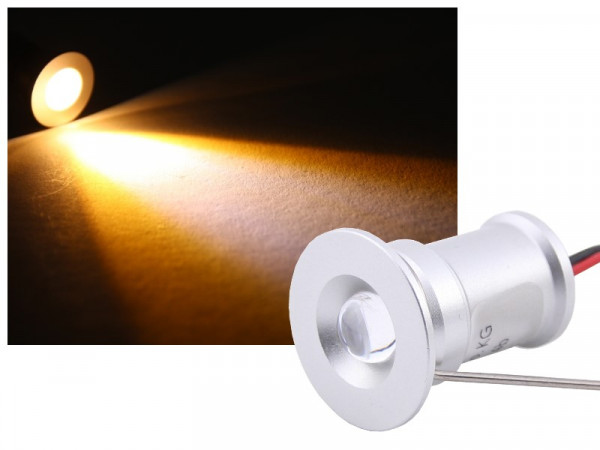 Mini LED Einbau-Spot IP67 12V 2W warmweiss