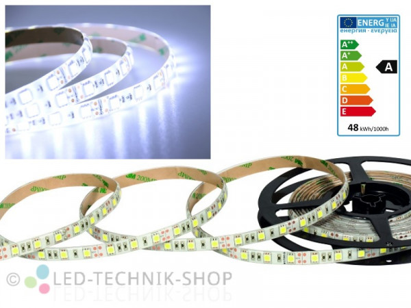 LED Strip 12V 5050-60 IP63 500cm kaltweiss