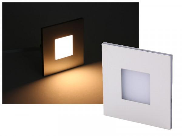 LED Wandeinbauleuchte Edelstahl 230V 2,5W warmweiss