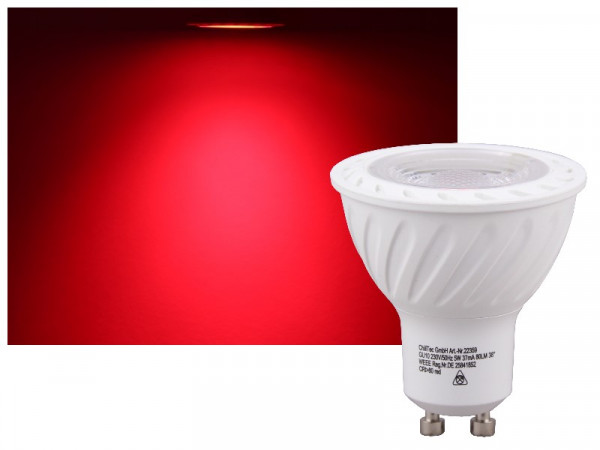 LED COB GU10 LED Strahler 5W rot