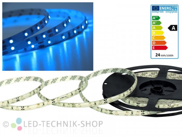 LED Strip 12V 3528-60 IP20 500cm blau
