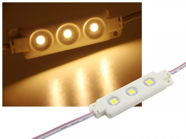 LED Modul 3-LED IP65 warmweiss