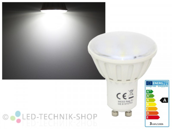 LED Strahler GU10 3W 280lm kaltweiss