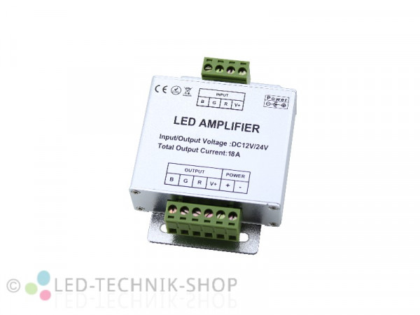 RGB LED Amplifier Repeater 12-24V 18A