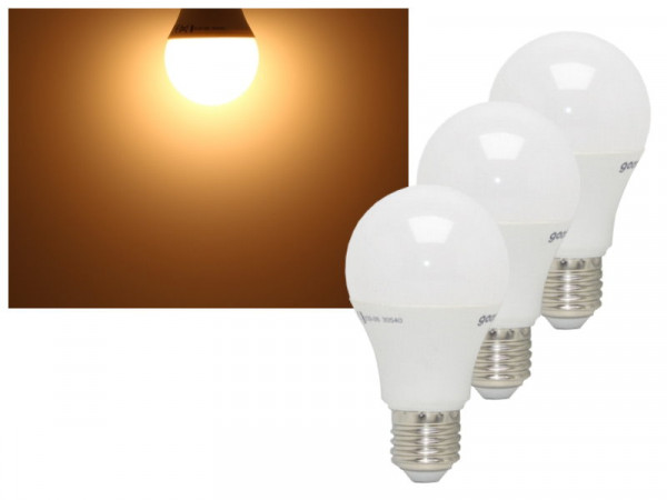 3er Set LED Lampen E27 5,5W 470 Lumen warmweiss
