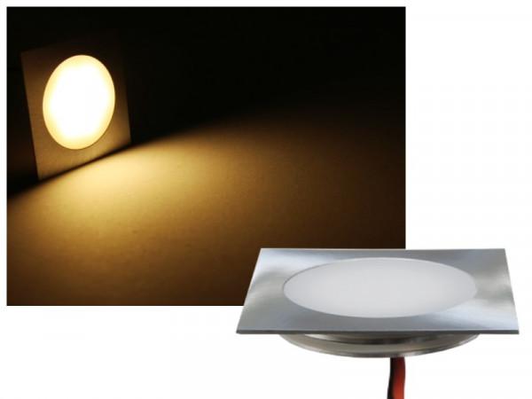 FINE Edelstahl LED Einbauleuchte eckig IP67 12V warmweiss