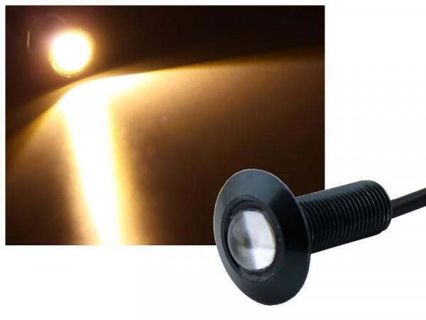 Alu COB LED Spot Schraube Typ-2 1,2W warmweiss