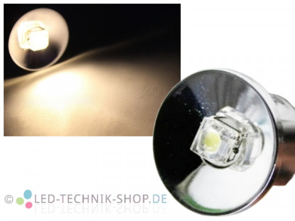 "LED Spot ""Star"" chrom 12V 0,5W warmweiss"