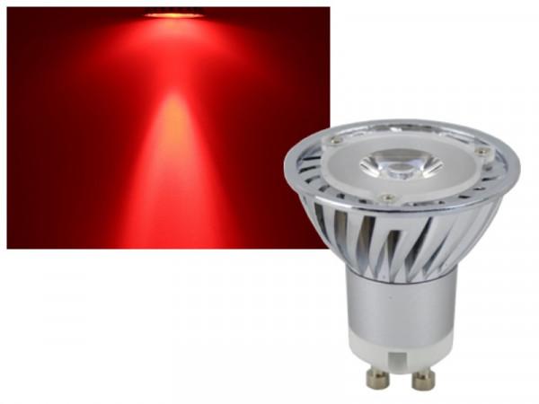 LED Strahler GU10 rot 3W