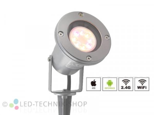 Erweiterungs-Strahler RGB+CCT Funk LED Gartenstrahler 2301SI