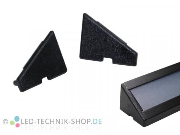 Endkappen für Alu LED Profil LTS-12 Black