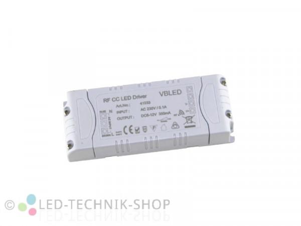 LED Funk Trafo dimmbar 350mA 2-4W