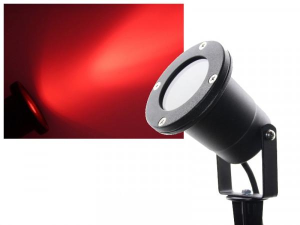 3W Power LED Gartenstrahler mit Erdspieß 230V rot