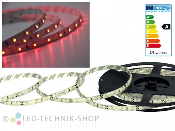 LED Strip 12V 3528-60 IP20 500cm rot