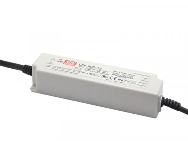 MeanWell LED Trafo 12V 60W dimmbar IP67