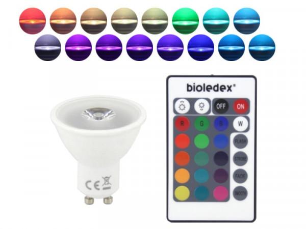 LED Strahler 3W GU10 RGB + Fernbedienung