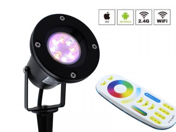 Starter-Set RGB+CCT Funk LED Gartenstrahler 2301SW