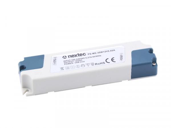 Nextec LED Trafo Netzteil Economy 12V 35W