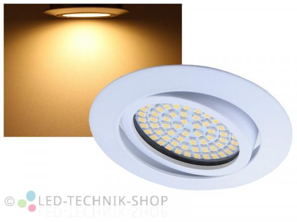 LED Einbaustrahler FLAT+ weiss 3,5W warmweiss