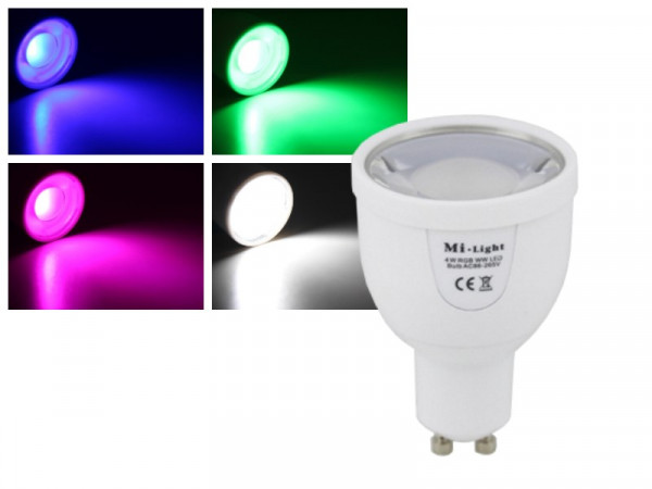 Mi-Light Smart LED GU10 4W RGB+CW FUT018 Leuchtmittel