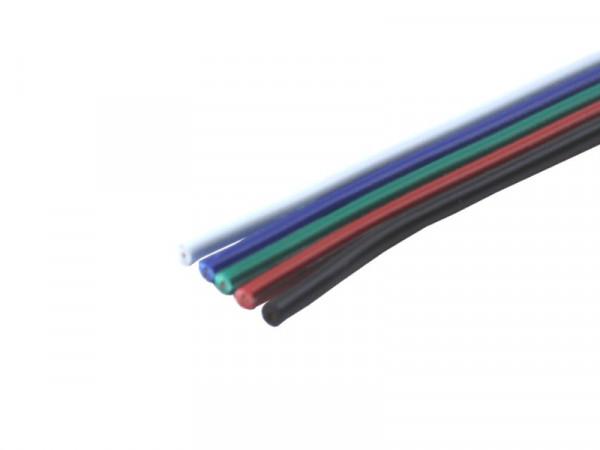 Kabel Litze RGBW flach 5x0,14mm²
