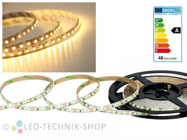 LED Strip 12V 3528-120 IP20 500cm warmweiss