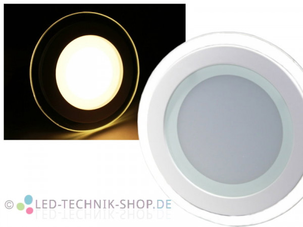 LED Glas Design Downlight 12W warmweiss