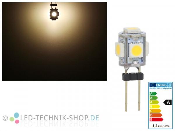 LED G4 5 SMD 1W warmweiss