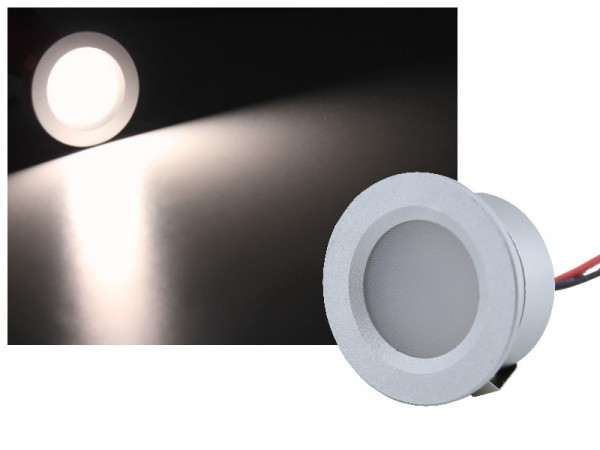 Mini Alu LED Spot IP65 12V 1W neutralweiss
