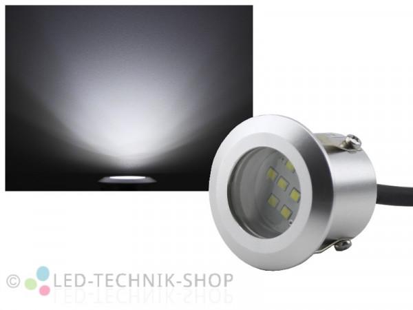 Alu LED Bodeneinbaustrahler 24V 1W IP65