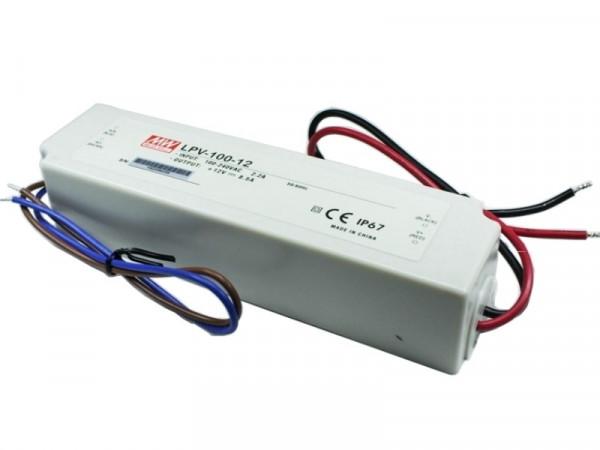 MeanWell LED Trafo IP67 wasserdicht 12V 100W