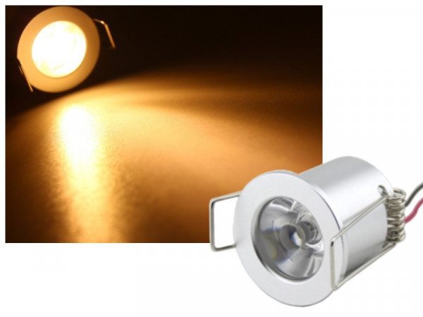 Alu LED Einbauleuchte 3W 12-16V warmweiss