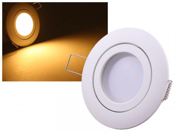 LED Einbauleuchte Eco Weiss 5W warmweiss dimmbar