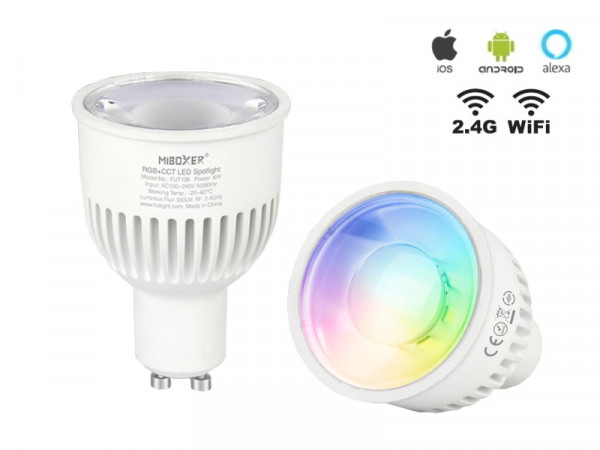 Mi-Light Smart LED GU10 6W RGB+CCT FUT106 Leuchtmittel