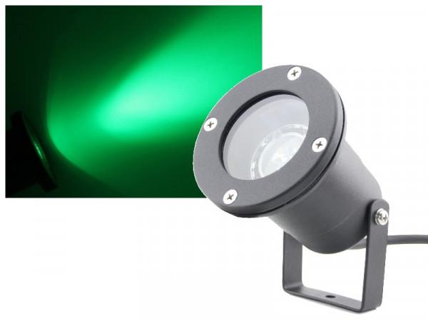 3W Power LED Gartenstrahler 230V grün