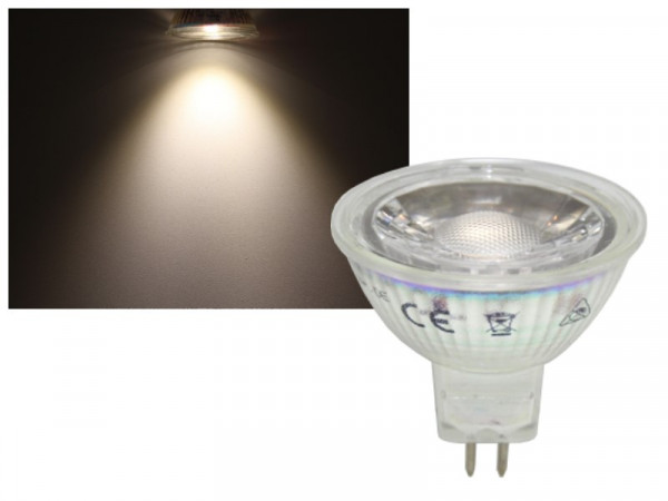 LED Strahler COB MR16 GU5.3 3W neutralweiss