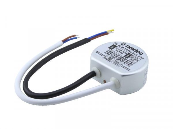 Nextec LED Trafo IP67 wasserdicht 12V 15W rund
