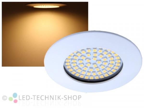 LED Einbaustrahler FLAT weiss 3,5W warmweiss