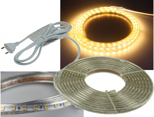 "230V LED Strip ""Ultra-Bright"" IP44 5m warmweiss"