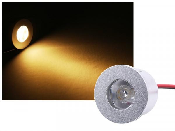 Mini Alu LED Einbauspot Slim 12V 1W warmweiss