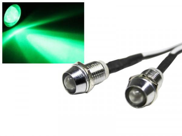 Edelstahl LED Spot Schraube grün 12V
