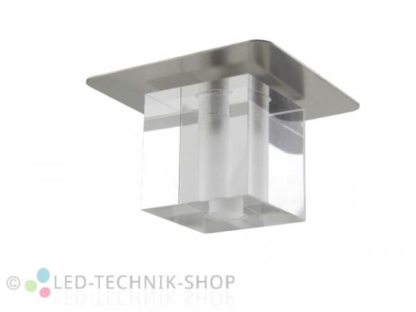 """Glas-Design Einbaufassung """"CUBE""""G4 chrom-matt"""