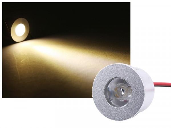 Mini Alu LED Einbauspot Slim 12V 3W neutralweiss