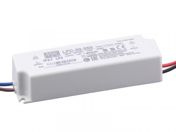 MeanWell LED Trafo CC 350mA 16,8W IP67 wasserdicht