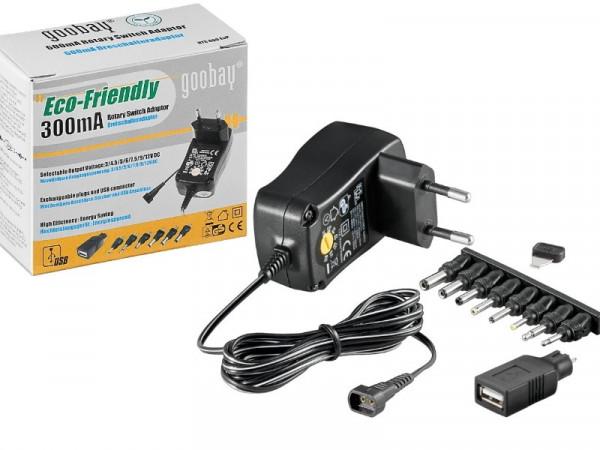 Eco Friendly Netzteil 3-12V 300mA 3,6W