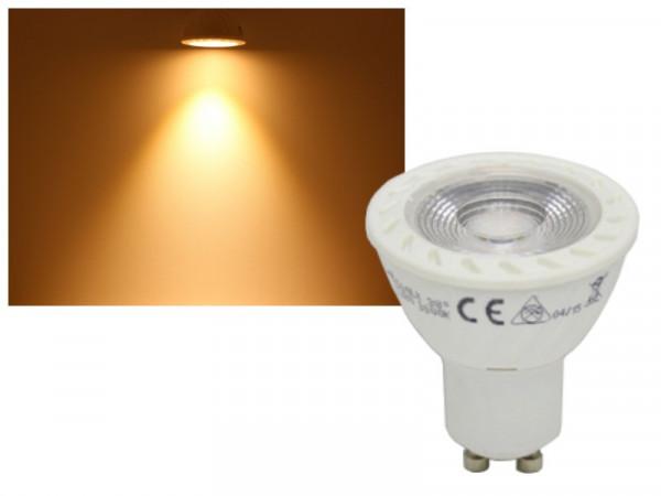 LED Strahler COB GU10 7W warmweiss